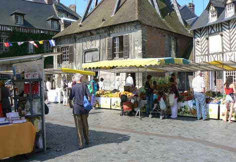 Honfleur market Normandy