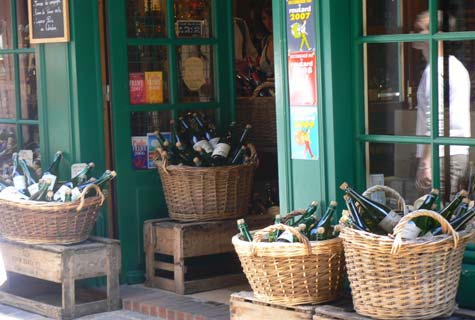 Honfleur wine shop Calvados Normandy