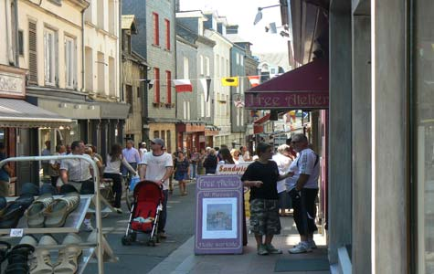 Honfleur street France Calvados Normandy