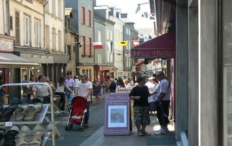 Honfleur street France Calvados Normandy