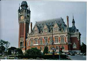calais town hall france picture