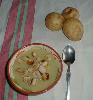 Potato soup recipe picture