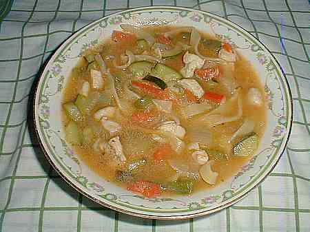homemade chicken soup picture