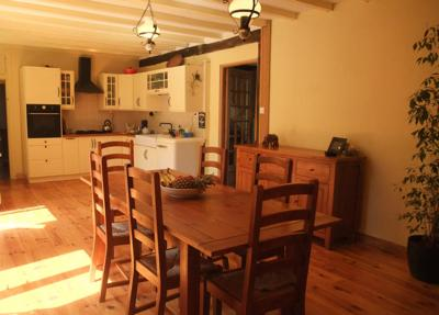 Dining room and kitchen - spacious, light and airy.