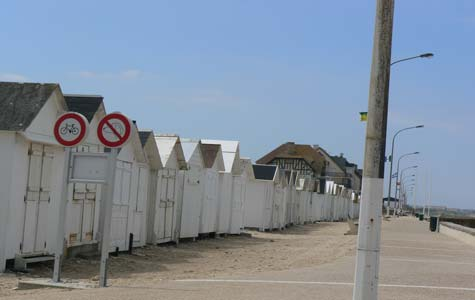 Langrune sur Mer beach hut France Calvados  Normandy