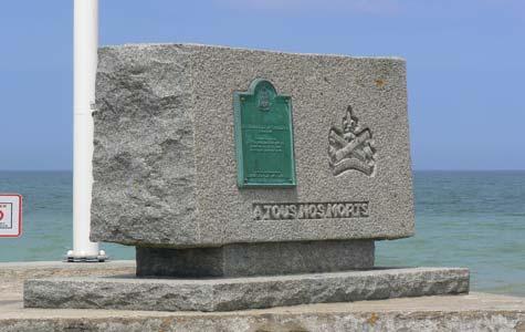Langrune sur Mer plaque  Calvados  Normandy