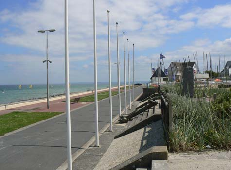 Langrune sur Mer sea front Calvados Normandy