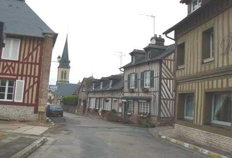 Le Breuil-en-auge street Normandy
