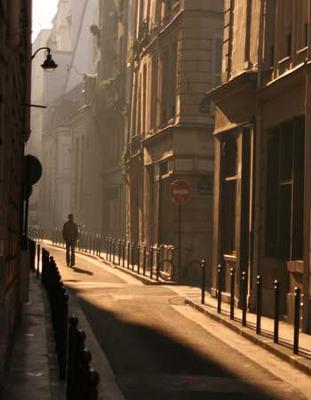 Little street by the Seine