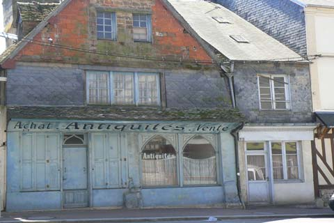 Livarot antique shop Calvados  Normandy