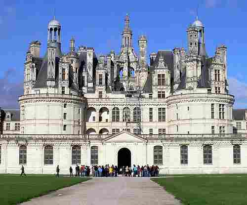 French chateau in loire region picture
