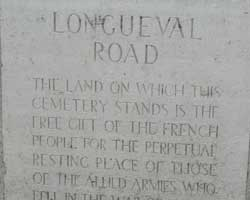 Longueval road cemetery sign picture