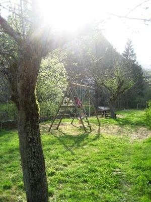 Our meadow with playground and barbecue area, right by the River Arac