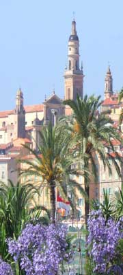 menton seaside resort town