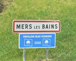 mers-les-bains sign picture