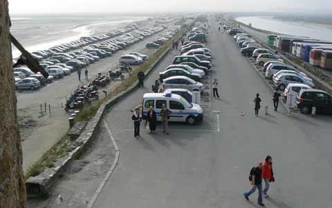 Le Mont Saint Michel car park la Manche  Normandy