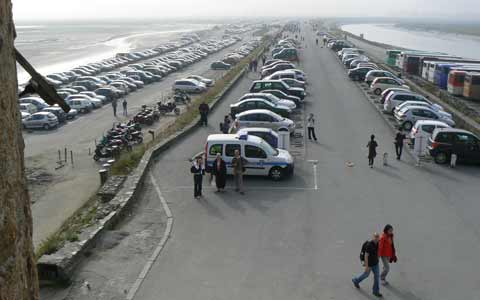 Le Mont Saint Michel car park la Manche  Normandy