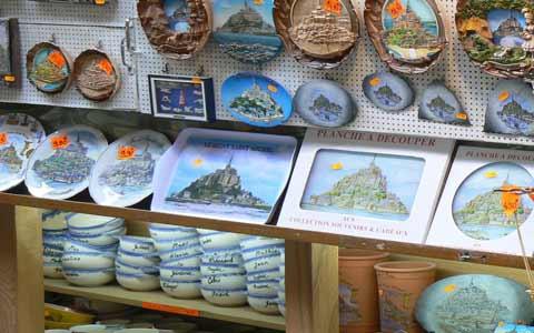 Le Mont Saint Michel gift shop la Manche  Normandy