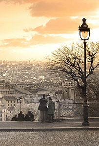 montmartre at dusk