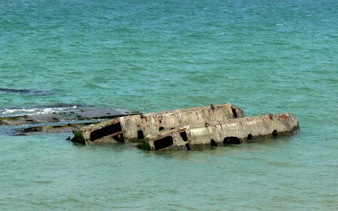 Arromanches les bains mulberry harbour Calvados  Normandy
