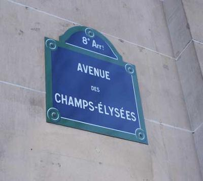 Champs Elysees sign
