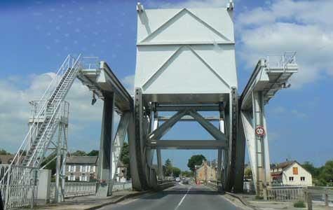 New Pegasus bridge Calvados Normandy