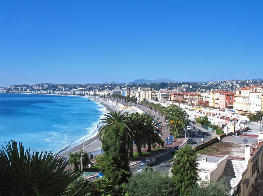 Sea front at Nice south of France