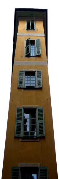 Nice old town narrow building