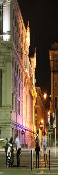Nice town center at night
