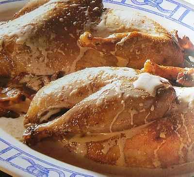 Pheasant with lemon cream sauce picture