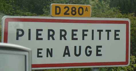 Pierrefitte-en-Auge sign Calvados Normandy