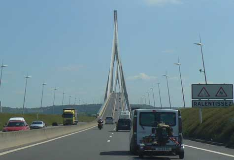 Pont de Normandie toll bridge Normandy