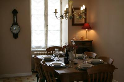 Pretty dining room with original windows