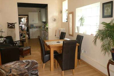 Dining area in rental property