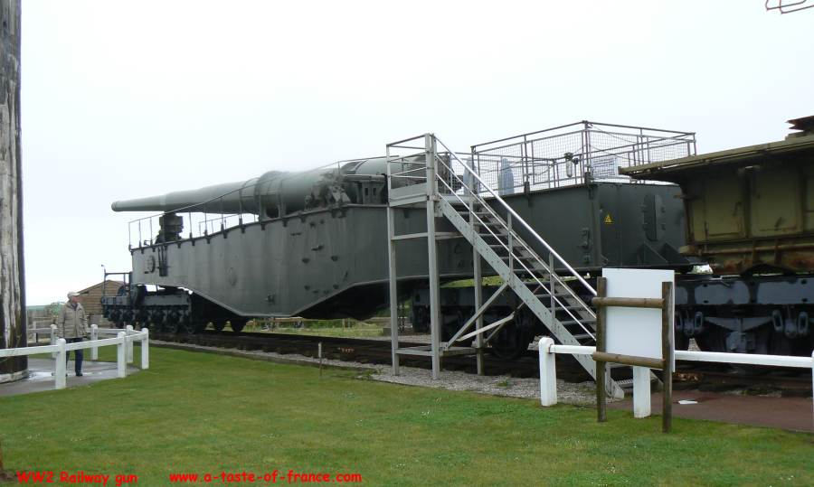Railway gun at Batterie Todt