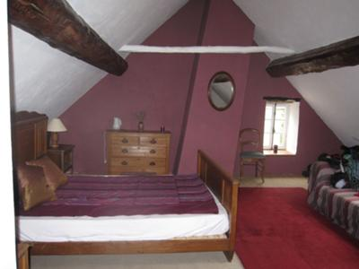 The renovated 'grenier' bedroom