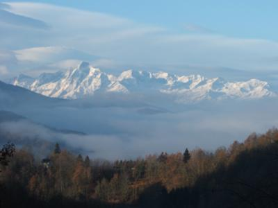 VIew from the house towards Mont Valier