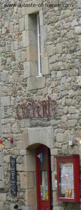 Creperie in the port of Roscoff