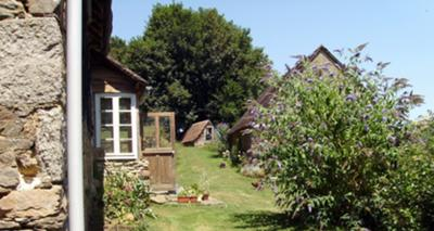 View of the front of the buildings, from the vegetable garden