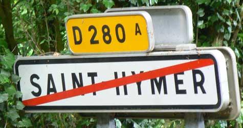 Saint Hymer sign Calvados Normandy