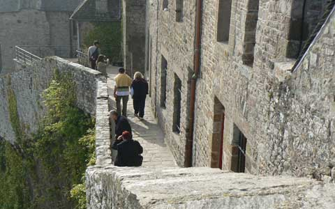 Le Mont Saint Michel steps Manche Normandy
