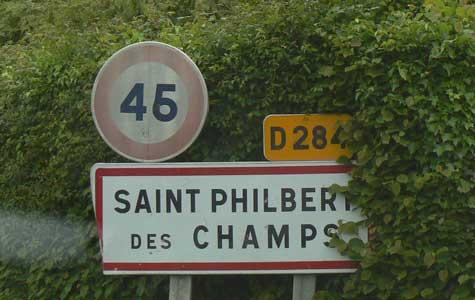 Saint Philbert des Champs sign Normandy