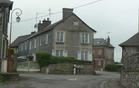 Saint Philbert des Champs street Normandy