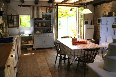 Kitchen gives onto the sunny garden