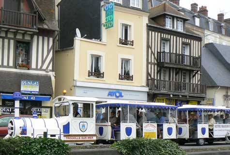 Trouville sur mer road train Calvados Normandy
