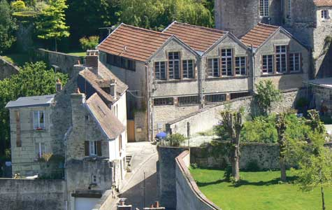 view of Falaise Chateau Guillaume Le Conquerant  Calvados  Normandy