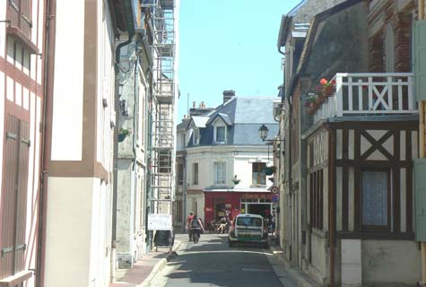 Villerville narrow street France Calvados  Normandy