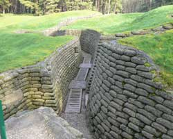 Vimy ridge trench picture