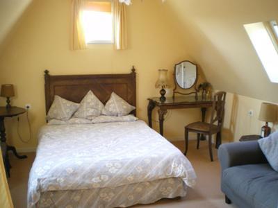 One bedroom in gite.