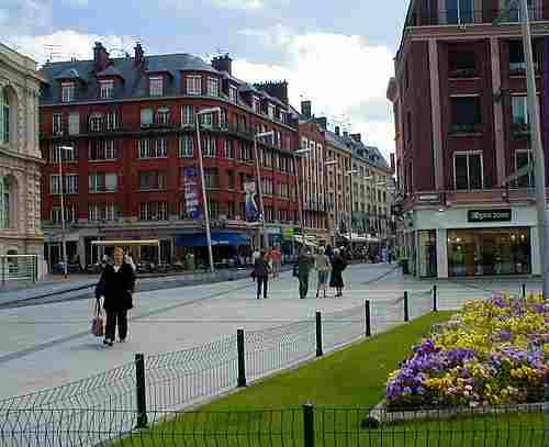 Amiens France town centre